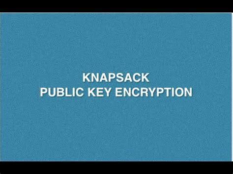 Solving knapsack problem